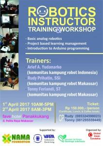 Pamflet RobotTrain#2 Makassar